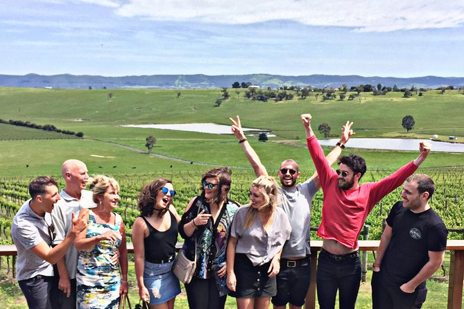 Enjoy an epic Yarra Valley wine tour departing from Melbourne. Take in the beautiful countryside with informative commentary as you travel by comfortable bus through to the heart of the Yarra Valley region. You'll visit three premium boutique wineries for wine tastings to appreciate the terroir and current vintages of this cool-climate region. At one of the wineries, you'll enjoy a seasonal main course with estate wine (of your choice). Along our scenic wine trail, you'll visit the famous Yarra Valley Dairy (Mon-Fri only) to taste hand-made cheeses. Then visit a craft brewery to quench your thirst on a glass of their beer or apple/pear cider. For the finale, we head over to Yarra Valley Chocolaterie and Ice-creamery where you can indulge in copious amounts of chocolate samples at your indiscretion. This is an all-inclusive day trip with the tour price covering all fees involving wine and cheese tasting, lunch with wine, glass of beer or cider, and transfers from and back to Melbourne.