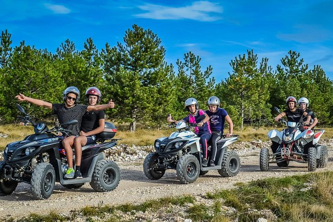 Note:If the two people will go to Atv with one motor, choose the age range for the second person (child 7/12) in order to be discounted.<br><br>For driving the ATV does not require a driver's license<br><br>Quad Safari is for those who want something that can be an unforgettable highlight of their vacation in Kemer. It's exciting, muddy, wet, dusty and a lot of fun and laugh of mastering a quad bike . We organise the quad safari out of Kemer in the area which is about 20 minutes drive, and surrounded by forest and the paths, little roads and runways among the trees is the perfect set up for quad safari. The total riding time is about 2 full hours. You will ride up and down the little hills, through the water streams splashing everyone else and yourself. You will be cowered by mud and get Dusty and wet ! The trip ; From picking you up from your hotel and returning back to Hotel,is about 3-4 hours.<br>