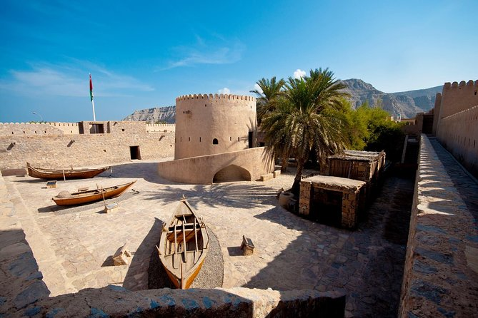 • 2 to 3 hrs trip within Khasab Musandam <br> • Visit Khasab Town <br> • Visit Fort of Khasab <br> • Visit old villages <br> • See Prehistoric Rock carvings (camels, ships, and warriors) <br> • Entrance fee included <br> • Driver cum guide <br> • Hotel/port pickup and drop-off