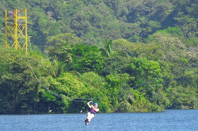 This exciting full-day outdoor excursion for private groups from 8 people combines some of Panama's best outdoor activities. Explore the rainforest from a trail of ziplines crossing over Lake Gatun, grab a paddle and kayak across the lake to enjoy the view and prove your skills in an aerial cables park. Your private tour package includes snacks, lunch, and pickup from your Panama City hotel.