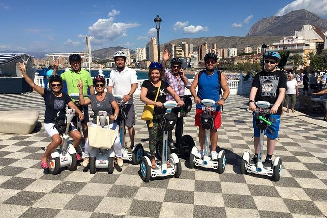 A dinamyc tour by the Levante Beach promenade till thi Old Town, visiting Square of a Castle, Benidorm Church, Down Town, Port, Tapas Alley, Commercial streets and shopping. During excursion historical and geological facts. Walkie-Talkies, helmets, west jackets and training included. 25 EUR per person.