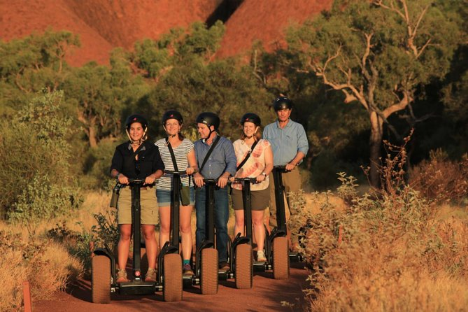 We begin your day with a complimentary pickup and transfer from your hotel or the campground at Ayers Rock Resort for your five hour tour. Because sunrise time changes constantly, our departure time changes every two weeks for optimal viewing. You will learn how to safely use a segway, then enjoy a light breakfast before beginning the tour of Ayers Rock (also known as Uluru). Along the tour route, you will also see other highlights, including the Mutitjulu Waterhole. We finish this tour at the segway base where you will be taken to the Ayers Rock Resort. From there you can pick up your transfer to your originating hotel.