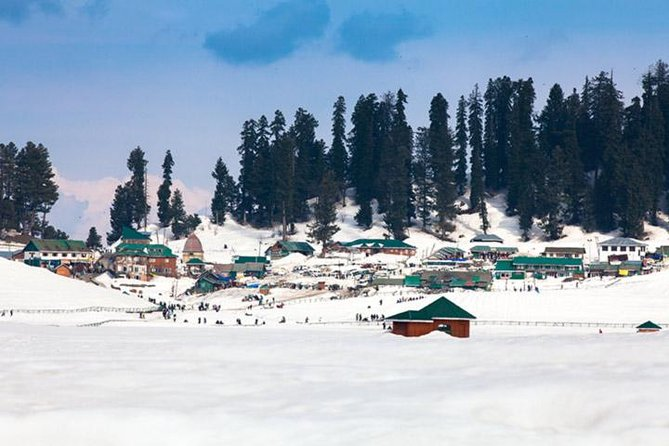 Originally called 'Gaurimarg' by shepherds, its present name was given in the 16th century by Sultan Yusuf Shah, who was inspired by the sight of its grassy slopes emblazoned with wild flowers. Gulmarg was a favourite haunt of Emperor Jehangir who once collected 21 different varieties of flowers from here. Today Gulmarg is not merely a mountain resort of exceptional beauty- it also has the highest green golf course in the world, at an altitude of 2,650 m, and is the country's premier ski resort in the winter.<br><br>While Gulmarg is an all-weather resort with refreshing summer meadows and pastoral scenes to keep the camera busy, the main reason to come here, at least in winter, is the off-piste, deep-powder, long-run skiing and snowboarding. The Himalayan resort of Gulmarg is one of the newest and increasingly popular ski destinations. Head here for the world's highest gondola ski lift and eye-popping views.