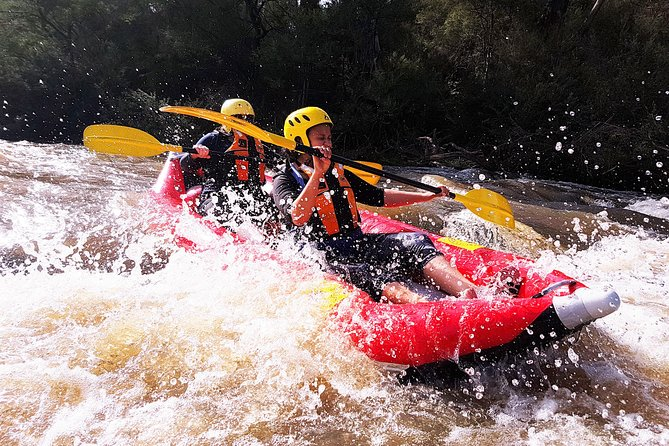 """Are you ready for some adrenaline fuelled grade 2 white-water rafting? Look no further! Tackle Melbourne's very own Yarra river in a two-person inflatable sports raft! Raft your way over furious rapids with names such as """"Bob's rock"""" and """"pinball rapid"""" and challenge yourself as you paddle down the raging rapids!<br><br>This is a fully guided rafting adventure with all safety equipment and instructions for the paddle. We will kit you out with the latest gear and raft and demonstrate how to paddle and steer the with ease! Then it's two fantastic adrenaline-packed hours on grade 2 rapids.<br> • Paddle down the beautiful Yarra river surrounded by native bushland<br> • An action packed adventure down boiling grade 2 whitewater<br> • Fully guided by experts and all equipment included<br> • All parks fees<br> • Go pro mounts on all helmets to capture the spills!"""