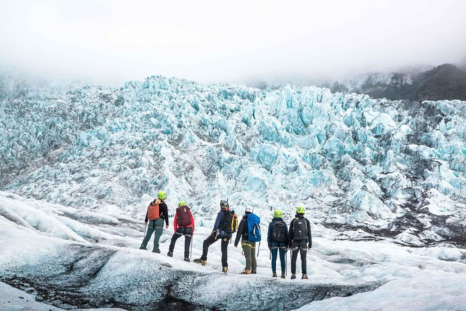"""Prepare yourself for an unforgettable and frozen adventure from Skaftafell National Park. This is the perfect opportunity for those who want to experience a long hiking adventure on Falljökull, """"The Falling Glacier"""", part of Vantajökull, Europe's largest glacier. We will use different techniques to explore far into the glacier to make sure you let the ice fall amaze you and the breathtaking scenery leave you speechless."""