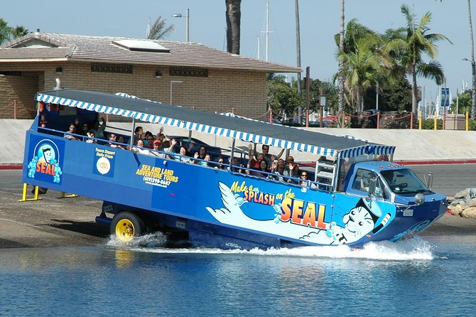 While you're in port in San Diego, explore the city by both land and sea on the San Diego Seal Tour – the Southern California version of the duck tour. On an amphibious vehicle that travels on land and in water, you'll spend this independent shore excursion driving along the waterfront and splashing into San Diego Bay. It's a fun-filled adventure for the whole family.