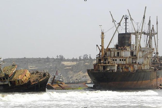 About 35km north of Angola's capital, Luanda, lies a stretch of beach that is an eerie resting place for 20 + derelict and rusting ships. <br><br>Known by locals as Praia da Santiago, or Praia do Sarico, the 2.5km stretch of beach is better known as Shipwreck Beach or Karl Marx Beach, named after the biggest shipwreck on the beach.