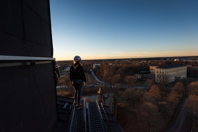Roofwalking on the worlds greatest pink castle!, Uppsala, Suécia