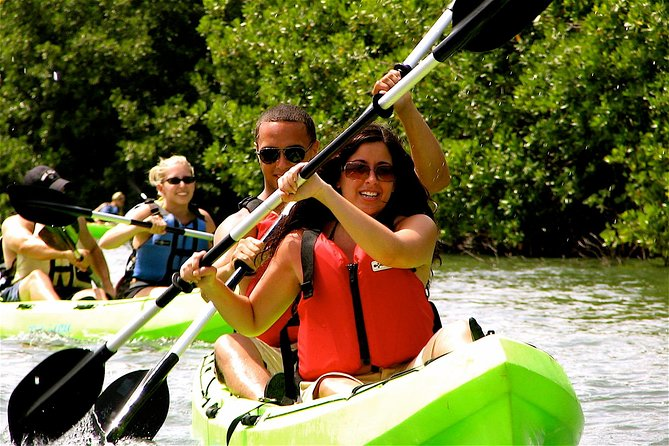 Take a kayak and snorkel adventure through St. Thomas' Mangrove Lagoon, an unspoiled region of mangrove forests, winding channels and first-rate snorkeling territory. You'll pass beautiful islands while snorkeling through crystal-clear waters, home to an abundance of wildlife including sting rays and the endangered brown pelican. St. Thomas' Mangrove Lagoon offers an eco-adventure you're not going to want to miss!