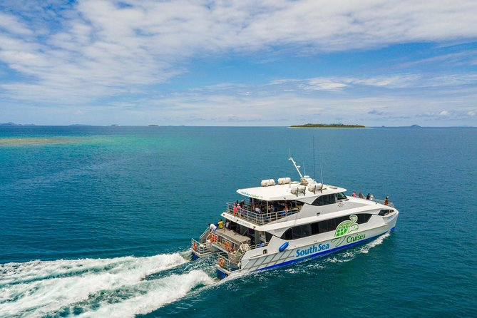 Escape to the remote and rugged Yasawa Islands on a full-day cruise from Port Denarau Marina near Nadi. On board a comfortable, high-speed catamaran, take in the stunning and varied scenery as you cruise through the ancient volcanic islands of the Yasawa island group.