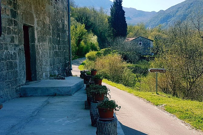 - Hotel or apartment pickup <br>- Driving along Montenegrin coast to Petrovac <br>- Driving across Pastrovackagora to Lake Skadar <br>- Visiting various villages and wineries in Crmnica area <br>- Wine and food tasting (rakija, honey, prosciutto, cheese, olives...) <br>- Return to hotel or apartment