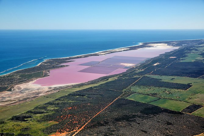 Pink Lake & Abrolhos Island Flyover, Geraldton, AUSTRALIA