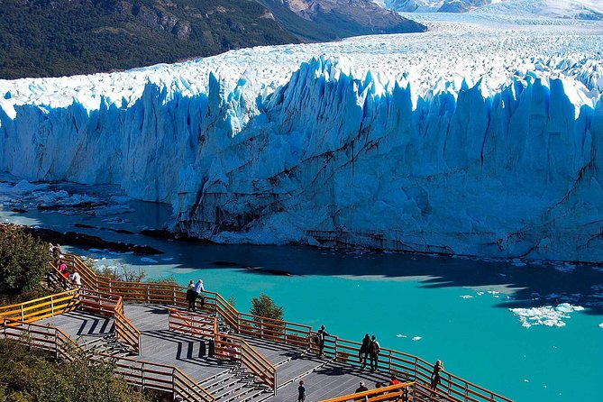 Take a tour of Perito Moreno Glacier from El Calafate with a guide, who tells you about the significance of the glacier and shares interesting details about the surrounding area. A boat ride is included so you can enjoy different perspectives of this natural wonder. Hotel pickup and drop-off is provided.