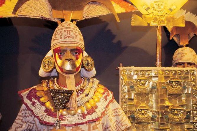 See some of the rarest and most fascinating artifacts of Peru's ancient Moche civilization at the Royal Tombs Museum. On this tour from Chiclayo with a knowledgeable guide, gain insight into the Moche people, who lived in northern Peru from the 1st to 8th centuries. In 1987, archeologists excavated Moche tombs filled with treasures, as well as mummies like the Lord of Sipán, which now reside at the museum in Lambayeque, just north of Chiclayo. Choose the private tour option for a more personalized experience, if you wish.