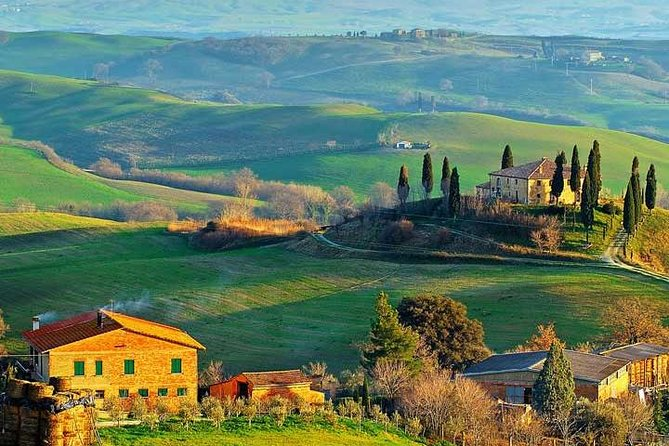 Enjoy an half day small group tour to discover the beauty of the Tuscan wine country. Drive through vineyards, olive groves and cypress trees. Visit 2 wineries to discover the secrets of wine making, take pictures and taste different wines and olive oil paired with local Tuscan specialties.