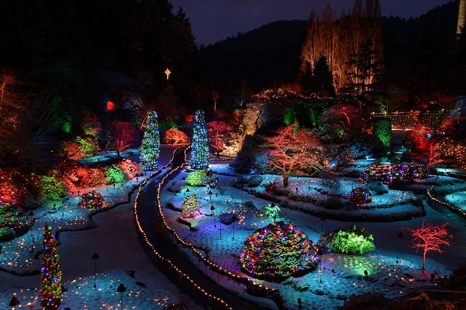 The Magic of Christmas at Butchart Gardens Shuttle and Entry, Isla de Vancouver, CANADA