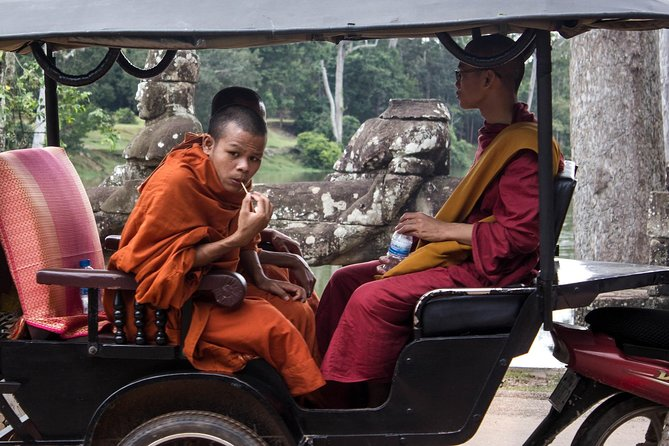 Explore the splendor of Angkor temples on an 8-hour private tour from Siem Reap by Tuk Tuk. Traveling by tuk-tuk from one temple to other temples.