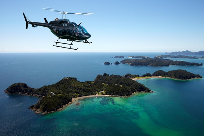 When your cruise ship docks in Bay of Islands, get bird's-eye views of Cape Brett and the Hole in the Rock on this Bay of Islands scenic helicopter tour from Paihia. Take in the stunning scenery of the main group of islands; view the iconic natural landmark, Hole in the Rock; and pass over the historic townships of Russell, Paihia and Waitangi.