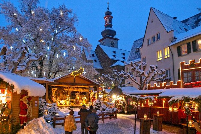 Visita a un mercado navideño y cena de Navidad desde Fráncfort, Frankfurt, ALEMANIA