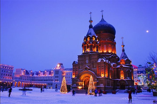 Visit the exotic St. Sophia Church, a perfect example of Byzantine architecture. Of course, the Ice and Snow World can't be missed for its pure white beauty. Also appreciate the ice sculptures which are unique to Harbin.
