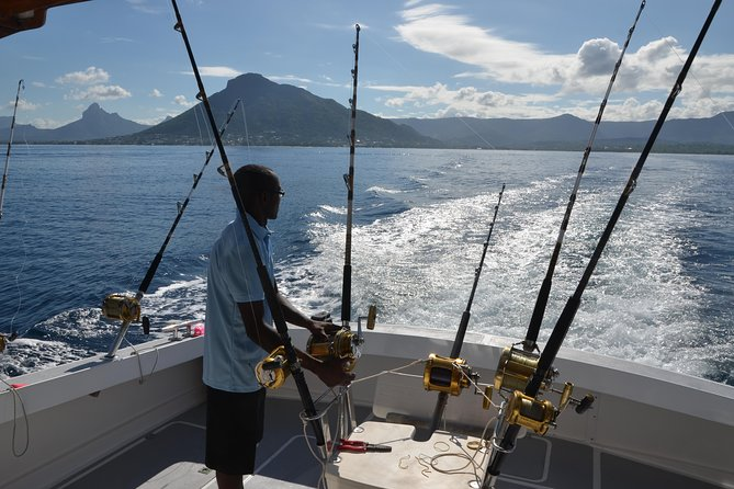 Fans of Big Game Fishing: this outing is for you. And as its an exclusive outing, only you and your family or friends on board<br><br>Meeting at 6.30am, you will enjoy an exciting fish outing until noon. Marlin, Dorado, Tuna and other...can be catched on the west coast of Mauritius<br><br>Of course breakfast and drinks are served during this outing<br><br>Around noon time for snorkeling while crew prepares a delicious BBQ