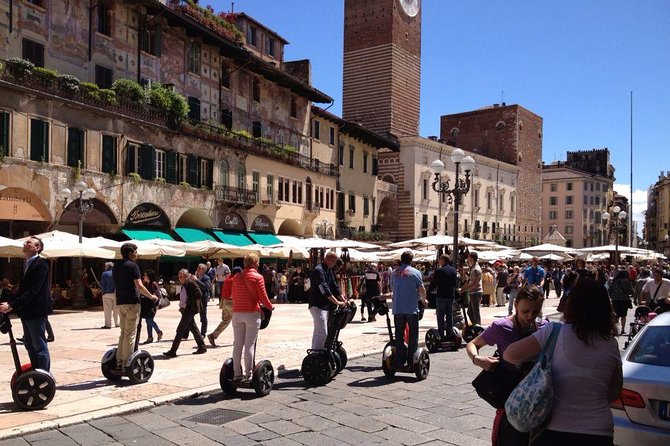 Experience the perfect overview of Verona by Segway on a tour that's far easier than walking and more unique and private than a coach tour. This amazing sightseeing experience is the best way to admire all the beautiful sights of Verona, including Castelvecchio, the Basilica of St Anastasia and Porta Palio.