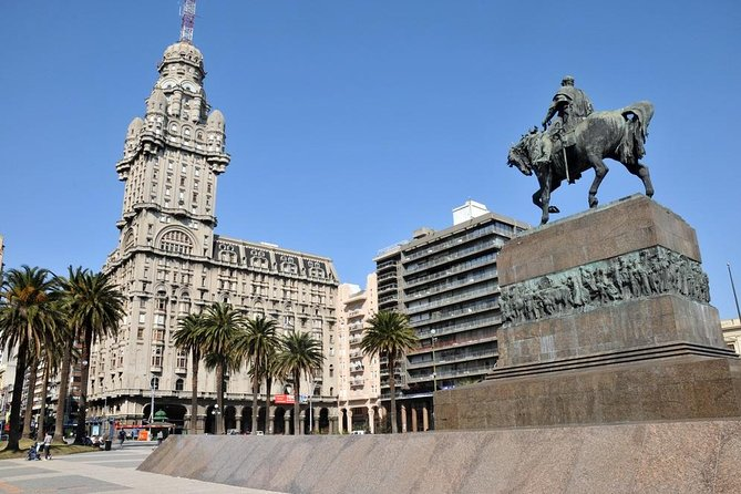 While in port in Montevideo, enjoy a private, 4-hour shore excursion of Uruguay's charming capital city. With a private guide, see top attractions like Parliament Palace, Constitution Square and Independence Plaza. You'll visit several coastal barrios, learning about the distinctive design of the buildings along with Montevideo's history. View the city's coastline with its picturesque beaches and stroll the waterfront walkway in Old City. You can also upgrade to include a winemaking tour at a local vineyard and a tasting of Uruguay's award-winning tannat wine.