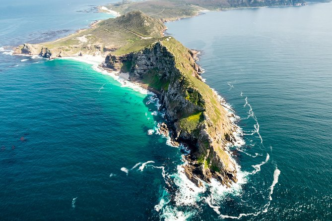 This 48-minute helicopter tour from Cape Town highlights the dramatic natural scenery of the Cape Peninsula and its two famous capes – Cape of Good Hope and Cape Point. Fly over Table Mountain National Park and along the shores of False Bay, taking in the beautiful beaches and the rugged coast line as you reach the capes. Then soar over Boulder's Beach and the surfers' paradise of Muizenberg before heading back to the city over the beautiful vineyards of Constantia.