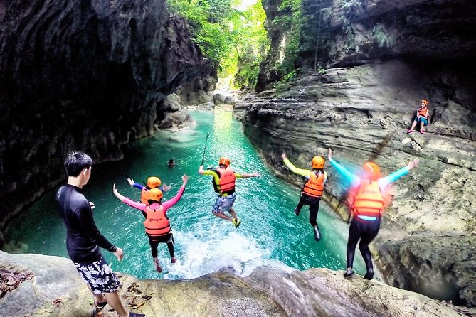 Join this day-trip and experience canyoneering thrill in Cebu. Enjoy a day away from hustle and bustle of the busy city with this extremely fun activities. However, this tour is not for the faint hearted.<br><br>A hearty lunch and round-trip transfer are included. Please remember to bring a waterproof bag and clothes to change as you will get wet after this activity.