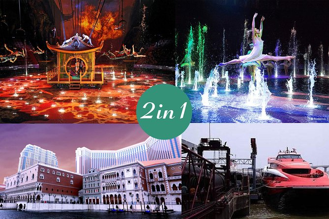 E-Ticket Combo: 2-Way HKG to Macau Ferry Ticket plus The House of Dancing Water, Macao, CHINA