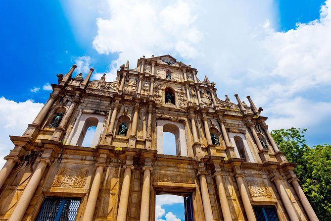 This full-day small-group tour is designed for people who need ferry and coach transfer service to Hong Kong from Macau. Your guide will pick you up from your hotel in Macau in the morning to visit many of Macau's famous historic sights. Later, enjoy a buffet style lunch before your ferry transfer to Hong Kong at 5pm.