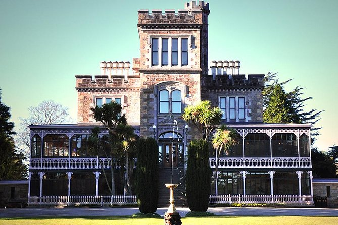 Enjoy a personalized small group tour of Larnach Castle and Dunedin City. This is a 6 to 7 hour fully guided tour that lets you explore Dunedin and Larnach Castle at a leisurely pace. Included is a fully guided tour of Larnach Castle's unique interior. Light refreshments and chilled water are included. <br><br>The tour takes in many interesting buildings and landmarks in Dunedin city such as the Larnach family tomb, the old University and all the main city attractions. The drive to Larnach Castle offers spectacular views from the Otago Peninsula with a lookout stop along the way. On arrival at Larnach Castle, your table will be reserved for lunch at the Ballroom cafe (lunch is own cost). After lunch and the guided tour inside the Castle, your guide will also take you through the award winning gardens offering fantastic views over the Otago Harbour.