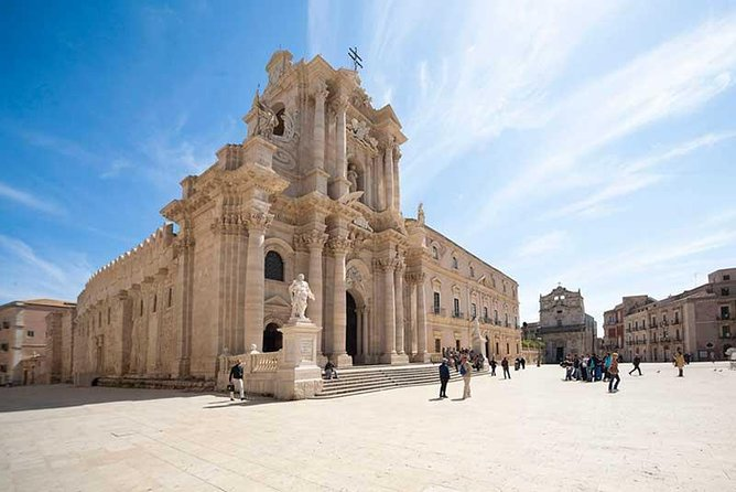"""This cultural excursion will allow you to visit classical monuments of Greek and Roman Syracuse in the archaeological park of Neapolis. From the archaeological park, the tour moves on to visit the Ortygia Island, the heart of Syracuse. In the afternoon, you will be visit the town of Noto, considered a true """"open air museum."""""""