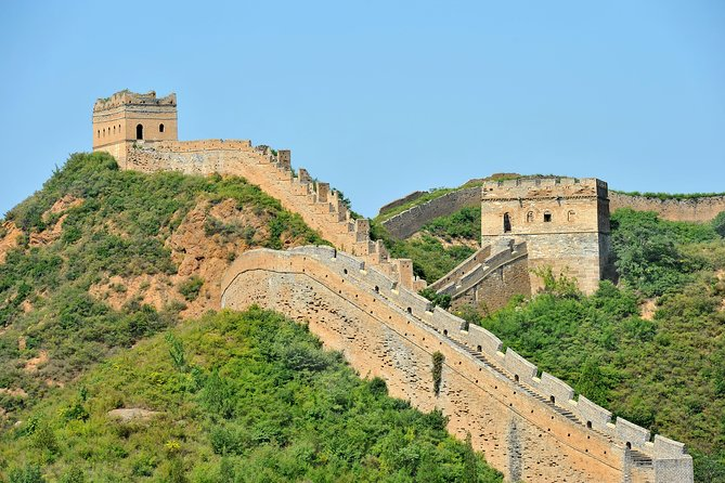 See two of China's most popular destinations, the World Heritage-listed Great Wall of China and the Ming Tombs, on one unforgettable guided day trip from Beijing. You'll visit the Badaling section of the Great Wall, one of the best-preserved parts of this colossal structure, and explore the Chang Ling Tomb, the largest of the excavated Ming emperor burial sites. Lunch and round-trip hotel transport are included, with expert commentary from a knowledgeable guide throughout your full-day tour. To complete your sightseeing you'll have the opportunity to enjoy Jade Factory and tea taste.