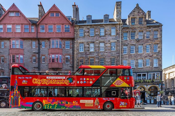 Explore the historic and vibrant city of Edinburgh in your own time, with an unlimited 24 hour hop-on hop-off bus tour. From the open-top deck you'll have a fantastic 360 degree view of the spectacular surroundings, which are a blend of stunning natural beauty, and wonderfully historic architecture. This Scottish sightseeing adventure will take you to all of Edinburgh's key points of interest, including Waverley Bridge, Grassmarket, Johnston Terrace, Old Town, Canongate, Palace of Holyroodhouse, Our Dynamic Earth and much more! There's also an informative audio tour commentary on the double-decker bus, so you can make sense of the fabulous sights you're experiencing. With access to 14 stops around the city, and the ability to hop on and off the bus as much as you please within the given time period, you can truly immerse yourself into the culture of this charming destination.