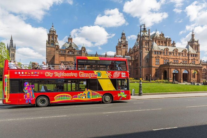 Explore Glasgow, one of the liveliest and most cosmopolitan destinations in Europe with this 1 or 2 day unlimited hop-on hop-off bus tour. You'll have access to 22 stops along the route, hopping on as you please within the chosen time period. From the open-top deck you'll have fabulous views of Scotland's largest city, and everything it has to offer, including impressive architecture, history and culture! Sit back for a relaxing loop of the tour whilst enjoying the on-board audio tour commentary.