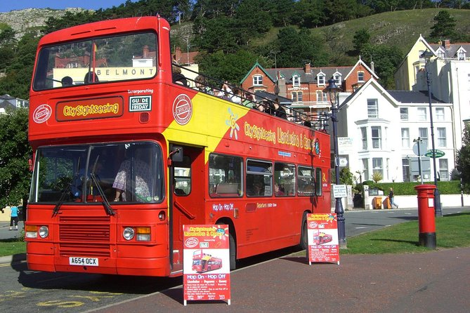 Explore the seaside resort town of Llandudno on a City Sightseeing hop-on hop-off tour! With your24-hour pass, you can see the sights of Llandudno aboard an open-top, double-decker bus that includes an informative on-board audio commentary! Hop on and off as you please at 10 stops around the city including popular locations such as the Trinity Square, the Llandudno Pier and the West Shore.