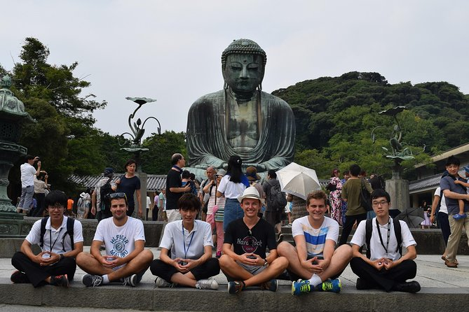 We are students from a local high school in Kamakura!! <br><br>We would love to show you around our favorite place where are both sightseeing spots and backstreets based on your request! Let's talk and walk with us!!  <br><br>Kamakura is called Samurai town because the old Shogunate capital of Japan was there in the 12th-14th century. <br><br>Kamakura has many historically significant Buddhist temples and Shinto shrines, so you may be able to somehow still feel the samurai power at the historic sites, such as Tsurugaoka Hachiman Shrine, Hasedera Temple and the Great Buddha! Of course, we will lead you to local recommended spots, too!!