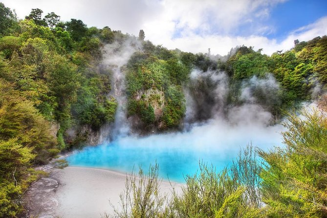 You can design your own ideal day! Experience the must-see geothermal wonders of Rotorua at the Waimangu Volcanic Valley. This convenient tour is fully customizable. <br><br>Waimangu is the world's youngest geothermal system. Discover how the world began. The home of spectacular volcanic craters & enormous hot water springs. Book Online Now! Native Bird Life. Pink & White Terraces. Rare & Unusual Plant Life. Enormous Hot Springs. <br><br>Your options include half or full-day tours to Waimangu. You can add on a number of other interesting natural and cultural attractions, choose from Wai-O-Tapu, Hobbiton movie set, Huka Falls or Whakarewarewa Living Maori Village Tour in the afternoon. (A Maori cultural village where you will enjoy a Hangi Lunch). Make the most of your time in the Rotorua area by mixing and matching the best options for you.<br><br>All tours include pickups, transport, entry into the attractions chosen and commentary from one of our legendary BALL team Driver-Guides.