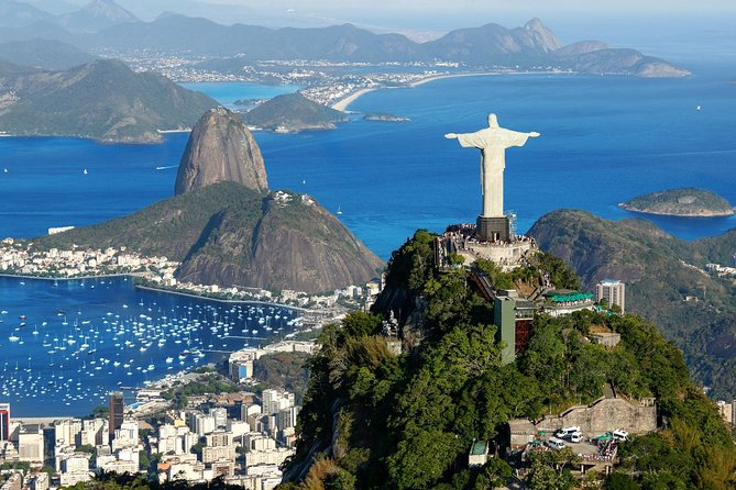 Enjoy full-day tourin Rio de Janeiro visiting all themust-see attractions in one-single day: Christ The Redeemer Statue atop Corcovado Mountain, Sugarloaf Mountain, Selarón Steps, Maracanã Stadium, Sambadrome, and Metropolitan Cathedral. The tour includes lunch atBrazilian steakhouse. You will also get hotel pickup and drop-off and be accompanied by a professional tour guide.