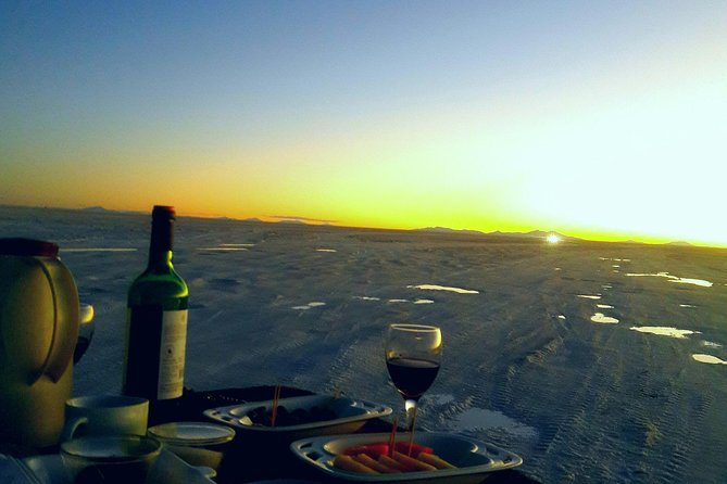 Enjoy a private gourmet dinner in the middle of the Salt Flats, with pick-ups from your Hotel in Uyuni, Uyuni, BOLIVIA