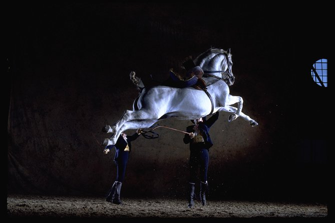 """The unique show, """"How the Andalusian Horses Dance"""", is an equestrian ballet accompanied by quintessential Spanish music and 18th century styled costumes, all put together and choreographed using movements based upon Classical Dressage, Doma Vaquera (country-style riding) and traditional equestrian chores."""