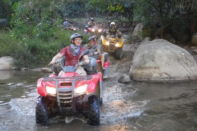 Travel by ATV through quaint Mexican villages and along the Cuale River into the lushSierra Madre Mountains. Leave the tourist areas of Puerto Vallarta behind and explore the real Jalisco! This unique ATV adventure is one of the most popular tours and will be a day you won't forget!