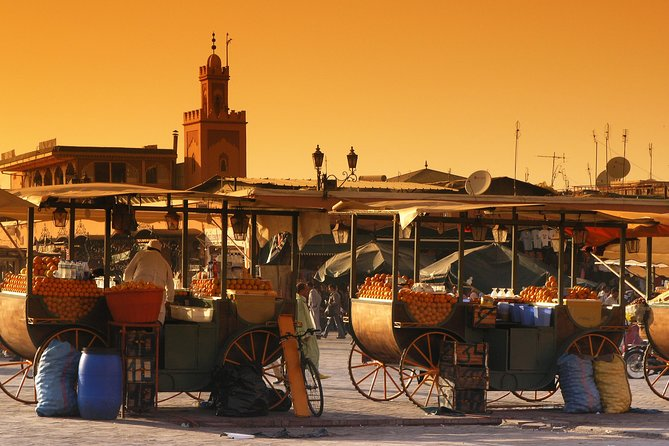 Spend the day learning about the history and taking in the medieval sights of ancient Marrakech. The Moroccan city was founded in 1062 and is one of the four former imperial cities. Your private tour will take you to mosques, gardens, palaces, tombs, and other historical artifacts that make this early city so fascinating. Wear comfortable clothes for this remarkable sightseeing trip to the past. Lunch and dinner are not included.<br><br>***<br>Main measures to comply with hygiene and cleaning requirements for the prevention and control against COVID – 19:<br>• Sanitizing hand rub available in all our vehicles.<br>• Protective face masks will be distributed to each passenger. Obligatory use of its during the trip.<br>• Surfaces of the vehicule will be wiped with disinfectant after each use.<br>• Driver and/or guide will wear masks and gloves during the journey.<br>