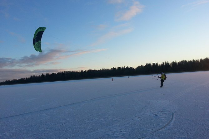Experience the exciting outdoor sport of snow-kiting. Learn snow-kiting on this 3-hour tour from Vasteras. Glide across the snow or ice using kite-powered skates or skies.