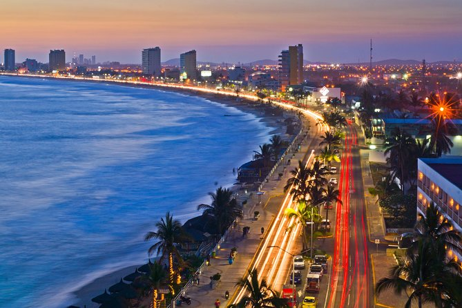 This tour will show you the flavors of Mazatlán: highlights, shopping, beaches and shrimp. You will enjoy the main highlights of the Old Mazatlán by stopping at each area with the option of walking around to get some great pictures and a bilingual guide to explain the history and culture of each, then head on over to the Golden Zone where the best shopping & beaches are located to do your own shopping, and/or a splash on the beach and finally arrive to the restaurant to enjoy a delicious Mexican shrimp lunch.