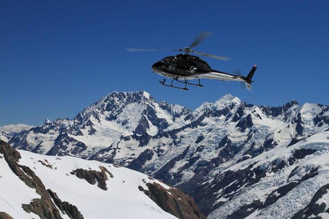 Soar through the sky on this 55-minute scenic Helicopter experience through the Mt Cook and Westland National Parks flying over the Fox, Franz Josef and Tasman Glacier, included a glacier landing (10-15 minutes). The ultimate way to see the Southern Alps and a bucket list flight.<br><br>Check in closes 45 minutes prior to the flight time.