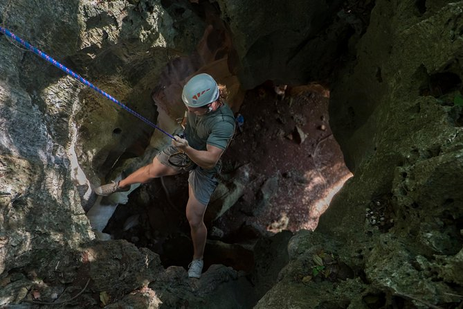 """Experience the ultimate rush in Fiji's boldest and most thrilling adventure. Abseil into the depths of Fiji's most spectacular caves and experience a new dimension in sightseeing from """"The End of a rope"""". Recommended for those who wish to take a break from their frantic pace of life and have an adventure."""
