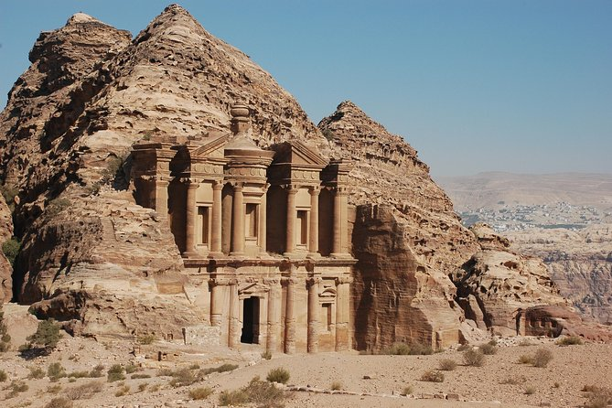Join a small group to discover Petra's rock-carved ruins, 'Indiana Jones' filming sites and rich Nabataean history on a day trip every Thursday from Dead Sea! After traveling south to the UNESCO-listed city, enjoy a stroll or short horseback ride to the Siq gorge for a comprehensive walking tour led by a local guide. Admire Petra highlights such as the Treasury (Al Khazneh), the Royal Tombs and amphitheater, and then make the most of some free time to explore the city that has captivated visitors for centuries.