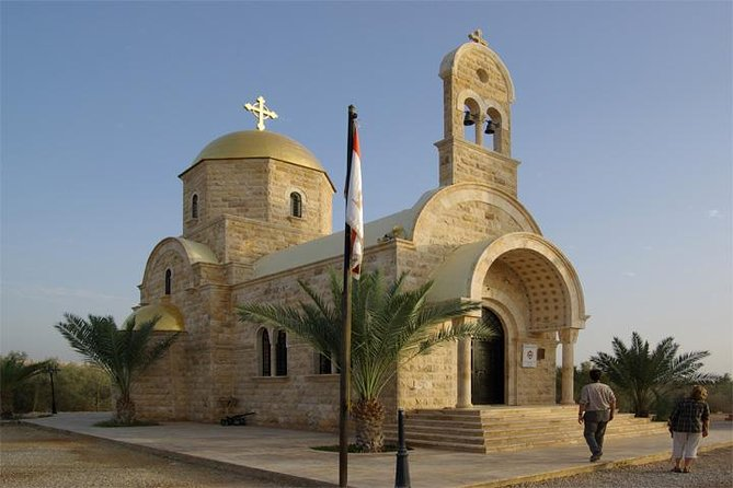 Visit the city of Madaba known for its mosaics. The most popular and well known is the ancient mosaic map of Jordan and the Holy Land of the 6th century in the Saint George Orthodox Church. Then climb up Mount Nebo where Prophet Moses is said to have died. Enjoy the view of the Holy Land and the Jordan Valley. Continue to the Baptism Site (In Arabic named: El-Maghtas) on the Jordan side of the Jordan River is one of the most important recent discoveries in biblical archaeology. Excavations only began here in 1996, following Jordan's peace treaty with Israel in 1994, but have already uncovered more than 20 churches, caves and baptismal pools dating from the Roman and Byzantine periods.